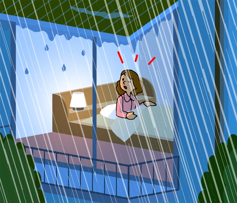 出典:気象庁リーフレット「雨と風(雨と風の階級表)