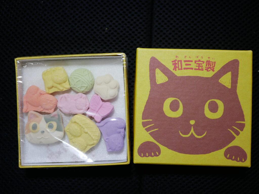 さぬき和三宝糖で作られた砂糖菓子