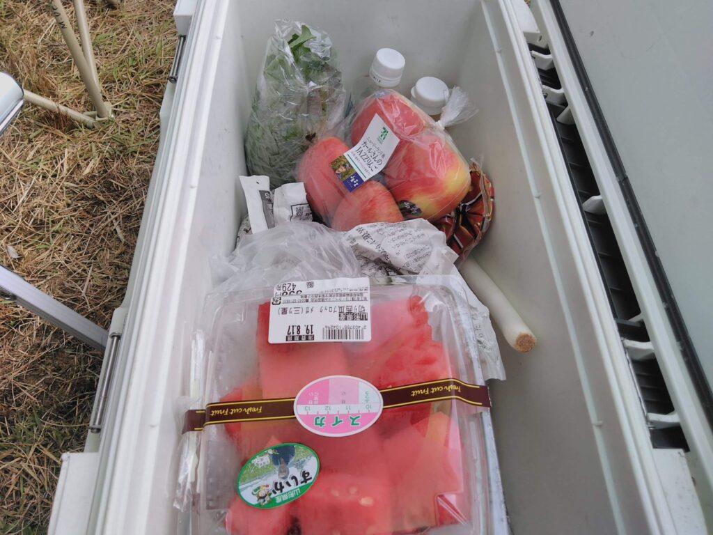 キャンプではクーラーボックスが冷蔵庫がわり 26Lサイズ