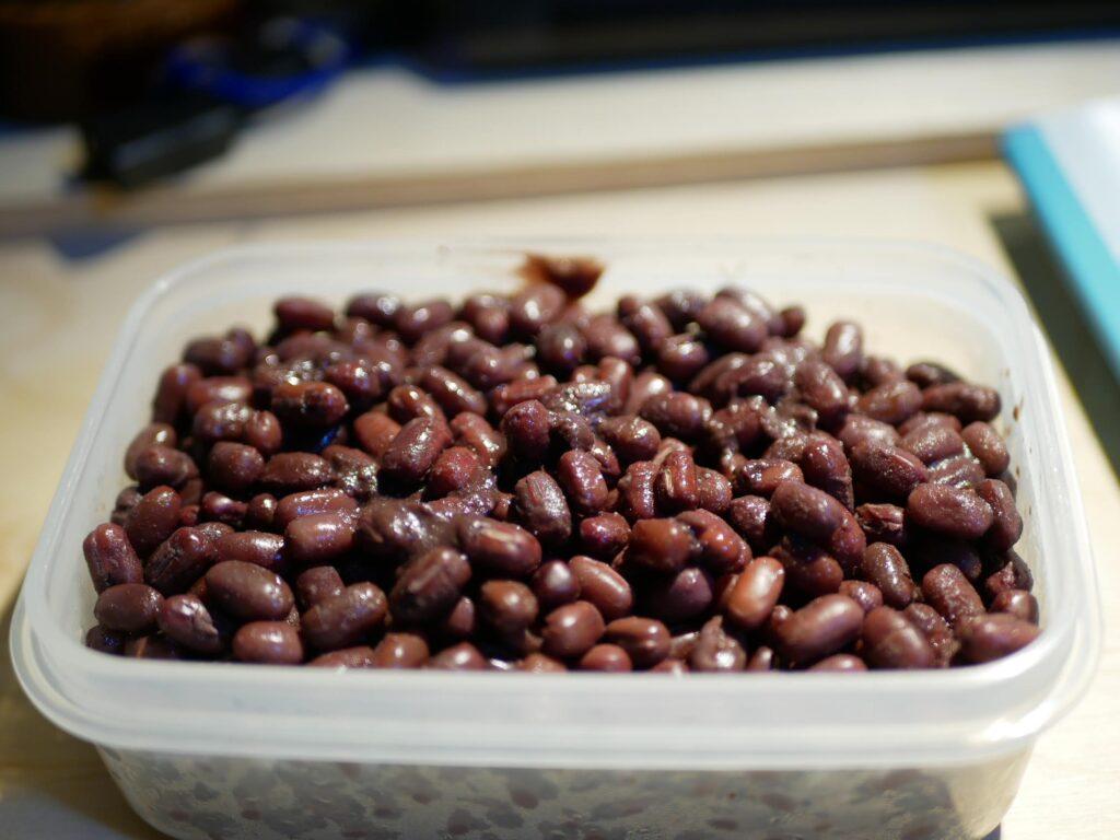 煮た小豆は冷凍保存ができます。